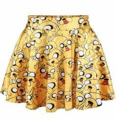 Falda Jake. Hora de Aventuras Original falda con un toque sexy basada en el personaje principal de Hora de Aventuras,  Jake.