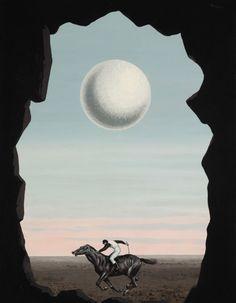 """peira: """" René Magritte: Le Jockey Perdu (c.1964) """""""