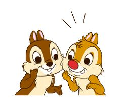 Chip 'n' Dale Animated Stickers by The Walt Disney Company (Japan) Ltd. Disney Mickey, Disney Art, Chip Und Dale, Hello Pictures, Pingu Memes, Rescue Rangers, Cute Love Gif, Disney Background, Graffiti Characters