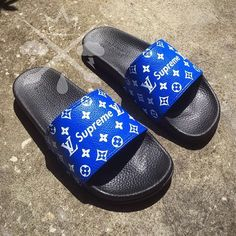 Nike Louis Vuitton LV Air Force 1 One Low top Luxury Designer Prom Shoes, Shoes Heels, Flats, Louis Vuitton Slides, Souliers Nike, Basket Style, Nike Slippers, Baby Boots, Cute Sandals