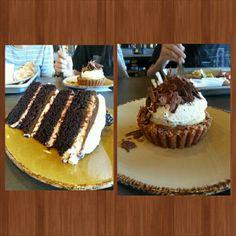 Delicious chocolate cake and banana cream pie at Urban plates