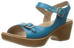 Dansko Women's Joanie Capri Blue Wedge Sandal * See this great image  : Dansko sandals