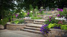 Подпорни стени в градината | Идеи за цветята в дома и градината