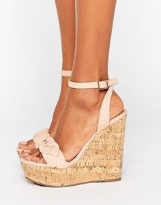 Page 5 - Discover a range of high heels with ASOS. Fromt black heels to bright silver, browse our range of classic peep toes, court shoes or strappy sandals from ASOS. High Wedges, Shoes Heels Wedges, Wedge Heels, High Heels, Shoes Sandals, Beige Wedge Sandals, Cute Sandals, Metallic Sandals, Prom Heels