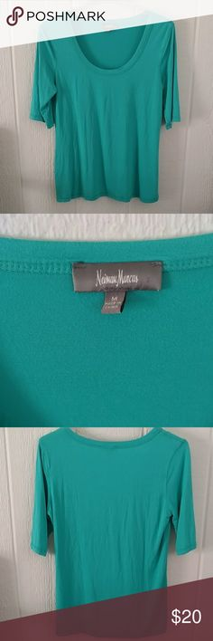 Neiman Marcus Top Teal Neiman Marcus shirt. 95% viscose and 5% spandex. Size medium. Neiman Marcus Tops