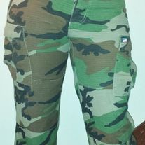 Size 30 - Regular  Casual and laidback, but you can definitely pair with heels if you dare. The official camo cargo pants are comfortable with a drawstring at the bottom. With plenty of pockets, this is a functional piece for any type of stylish individual.