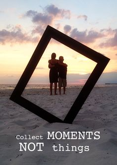 Collect Moments, Not Things >> I want to do this with my little girl!