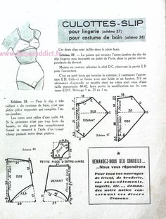 """Free vintage book Family Cut"""" with 30 FREE Lingerie Patterns Lingerie Retro, Lingerie Couture, Sewing Lingerie, Sewing Lessons, Sewing Blogs, Doll Clothes Patterns, Clothing Patterns, Shirt Patterns, Dress Patterns"""