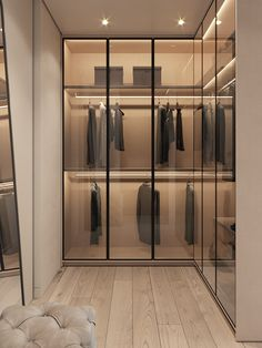 52 Popular Wardrobe Design Ideas In Your Bedroom. The most essential and important aspect of your bedroom includes your bed and bedroom wardrobe. Wardrobes give you extra storage capacity in your room. Walk In Closet Design, Bedroom Closet Design, Wardrobe Design, Closet Designs, Luxury Wardrobe, Luxury Closet, Bedroom Wardrobe, Wardrobe Closet, Glass Wardrobe