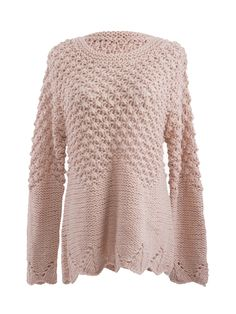 Sweater Love! Cozy Celebona Knit Textured Bobble Sweater Fashion