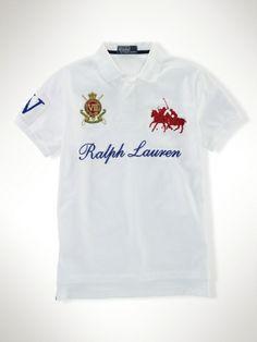 Cheap Ralph-Lauren Dual Match Crest Polo White In UK