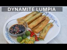 This video will show you how to cook easy dynamite lumpia. These are Filipino egg rolls with long green pepper. Here are the ingredients: 12 piece long green. Tilapia Recipes, Pork Recipes, Healthy Recipes, Healthy Pesto, Cooking Fried Rice, Cooking White Rice, Pork Siomai Recipe, Lumpia Recipe, Chicken Arroz Caldo Recipe