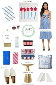 Comfy Cozy Couture: Blue & White Spring Wishlist