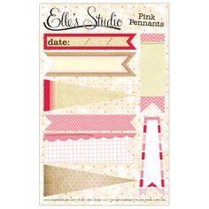 Pink Pennants by Elle's Studio