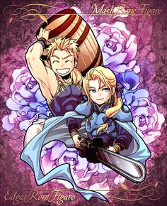 Tags: Anime, Final Fantasy VI, Pixiv, Edgar Roni Figaro, Mash Rene Figaro