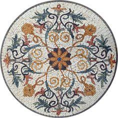 Mosaic Medallion - Floral Mosaic Patterns - Mosaic Designs - Handmade   #Mozaico