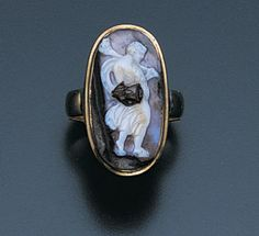 A Roman agate cameo ring, 1st century A.D.