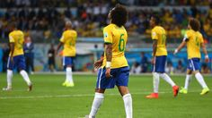 Marcelo of Brazil looks dejected