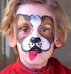 Facepainting dog