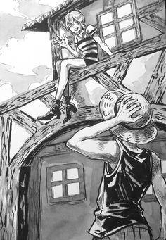 Monkey D Luffy Nami Straw Hat Pirates Mugiwaras One Piece One Piece Fanart, One Piece Anime, Anime One, Anime Manga, Nami One Piece, One Piece Ship, Luffy X Nami, Roronoa Zoro, Anime Couples Drawings