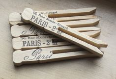 paris shabby chic clothes pins