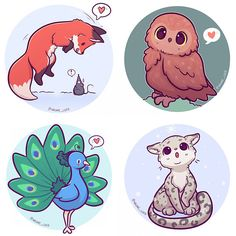 Chibi animal Stickers, art is drawn by myself! -Printed on Premium Gloss Sticker Paper. -Hand cut. -3x3 inches (approx.) All domestic orders are shipped first class. All International orders are shipped international standard. If you wish for tracked and signed please choose that option or contact me if you have questions. :)