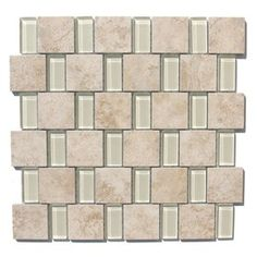 GBI Tile & Stone Inc.�Capri Glass Glazed Porcelain Mosaic Subway Wall Tile (Common: 12-in x 12-in; Actual: 11.81-in x 11.81-in)