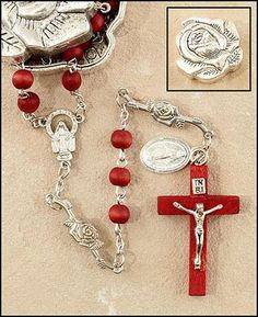 Rose Petal Rosary with Matching Rose Case   The Paola Carola Collection