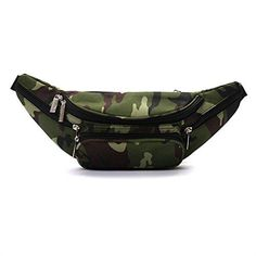 retro Camo Fanny Waist Pack Bum Bag perfect festival and rave accessory -  green Camouflage b0bc2c12f014f