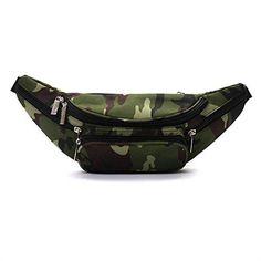 5ba1e36804cb retro Camo Fanny Waist Pack Bum Bag perfect festival and rave accessory -  green Camouflage
