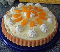 Flash cake: Mandarins in paradise - Backen - Kuchen Flash Cake, Chef Cake, Salted Caramel Cupcakes, Cake Recipes, Dessert Recipes, German Desserts, Something Sweet, Food Menu, Cakes And More