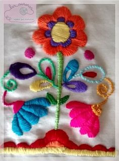 If you like working with ribbon and lace, this article discusses crafts you can have lots of fun with using these items. Mexican Embroidery, Hand Embroidery Stitches, Crewel Embroidery, Hand Embroidery Designs, Ribbon Embroidery, Floral Embroidery, Cross Stitch Embroidery, Embroidery Patterns, Bordado Floral