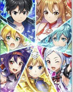 So many boys haha Anime Wallpaper 1920x1080, Animes Wallpapers, Online Anime, Online Art, Sword Art Online Season, Sword Art Online Yuuki, K Project Anime, Sword Art Online Wallpaper, Accel World