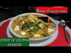 (3) Chupe de Quinua sabroso !!! - YouTube Quinoa Salad, Kitchen Gadgets, Healthy Recipes, Dishes, Meat, Chicken, Vegetables, Bolivia, Amelia