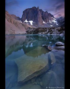 Temple Crag at Sunset, the Sierra Nevadas, California