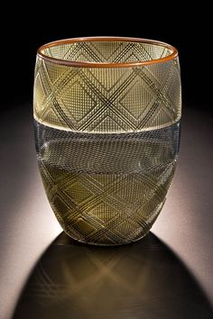 Amazing glass vessel by Dante Marioni. Found on/ http://www.southwestart.com/featured/preston-singletary-and-dante-marioni-native-spirit-venetian-flair/attachment/singletary-marioni-letting-down-the-rain-11-5h-x-8-5d-blown-sandcarved-glass-2