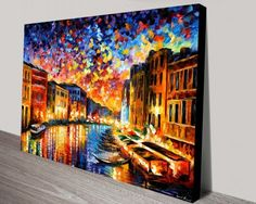 Venice-Grand-Canal -leonid-afremov-print https://www.bluehorizonprints.com.au/canvas-art/city-landscapes/