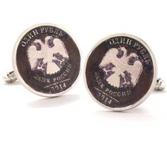 Russian Eagle Cufflinks Cuff Links Russia Bank Seal Coins Money Ruble Finance Trade Empire