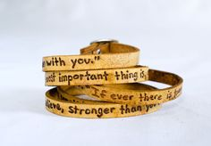 To My Lovelies, Winnie the Pooh Quote on Ultra Long Leather Wrap Bracelet. $29.00, via Etsy.