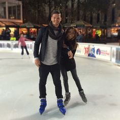 Gorgeous interracial couple ice skating #love #wmbw #bwwm
