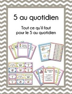 5 au quotidien - au complet by Letters 2 Numbers French Teacher, Teaching French, Cafe Strategies, High School French, Daily Five, First Year Teaching, French Education, Core French, French Classroom