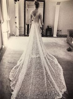 Beatrice Borromeo  - Valentino wedding gown - her 2015 wedding to Pierre Casiraghi  (grandson of Princess Grace of Monaco)