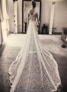 Beatrice Borromeo showed off her stunning Giorgio Armani Privé wedding dress