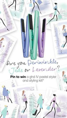 Pin to win! We are giving three lucky winners a ghd IV pastel collection styler of your choice and a styling kit to the value of over Ghd Hair Straightener, Lavender Hair, Good Hair Day, Hair Tools, Gorgeous Hair, My Favorite Color, Color Trends, Jade, Makeup