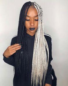 Two tone box braids
