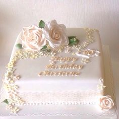Pretty vintage style 90th birthday cake                                                                                                                                                                                 More