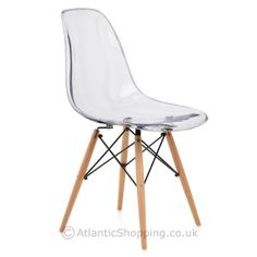 Eames Style DSW Chair Clear