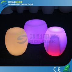 Leisure Plastic Stool with LED Light Inside www.goldlik.com