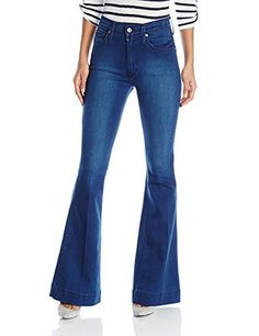 James Jeans Women's Shayebel High Rise Flare In Retro, Retro, 27- #fashion #Apparel find more at lowpricebooks.co - #fashion