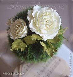 Украшение Лепка Мои цветы из глины и фоамирана для украшения прически Глина Фоамиран фом фото 3